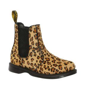 NEW IN BOX Dr. Martens Flora Hair On Chelsea Boots in Medium Leopard